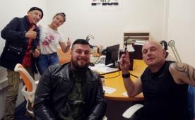 Участники Цирка Демидовых в гостях у Хит FM