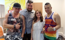Участники Цирка Демидовых в гостях у Юмор FM