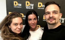 Виталий Вивчар и Анастасия Пивнева в гостях у DFM Томск